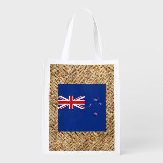 New Zealand Flag on Textile themed