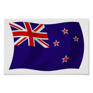 New Zealand Flag Poster Print