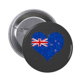 New Zealand Flag Shining Beautiful 6 Cm Round Badge