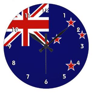 Red White Blue Wall Clocks Zazzle Co Nz