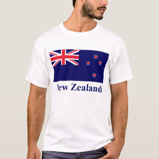 New Zealand Flag with Name T-Shirt