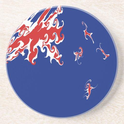 New Zealand Gnarly Flag Coasters
