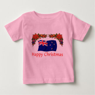 New Zealand Happy Christmas Baby T-Shirt
