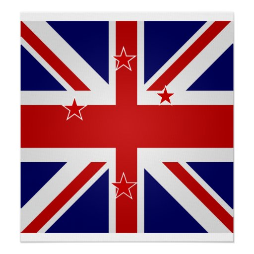 New Zealand High quality Flag Poster