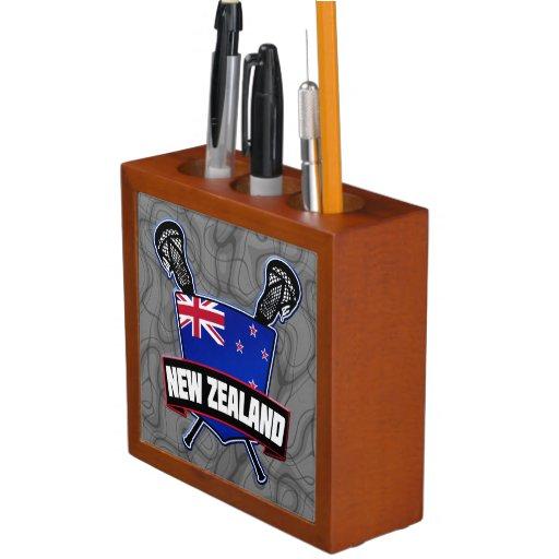 New Zealand Lacrosse Logo Desk Organizer