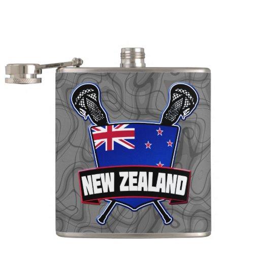 New Zealand Lacrosse Logo Flask