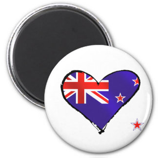 New Zealand love heart flag gifts 6 Cm Round Magnet