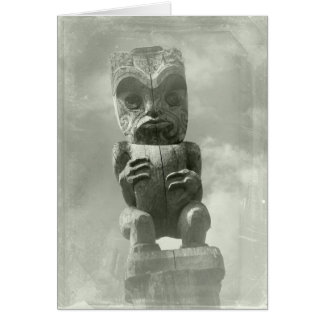 New Zealand Maori Carving Greeting Card