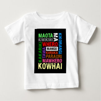 NEW ZEALAND MAORI COLOURS SUBWAY ART BABY T-Shirt
