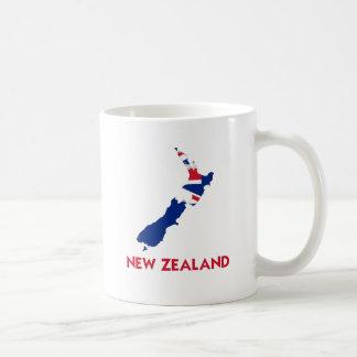 NEW ZEALAND MAP BASIC WHITE MUG