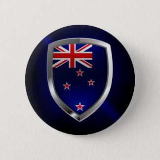 New Zealand Metallic Emblem 6 Cm Round Badge