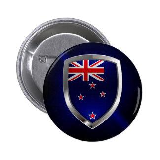 New Zealand Metallic Emblem 6 Cm Round Badge