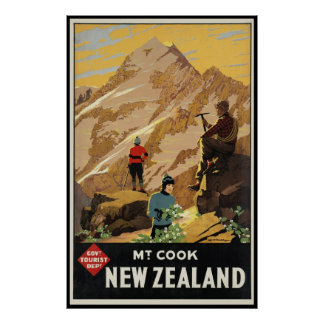 New Zealand Mount Cook Poster