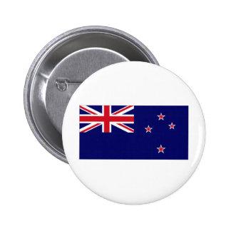 New Zealand National Flag 6 Cm Round Badge