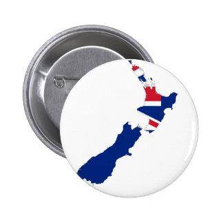 New Zealand NZ 6 Cm Round Badge