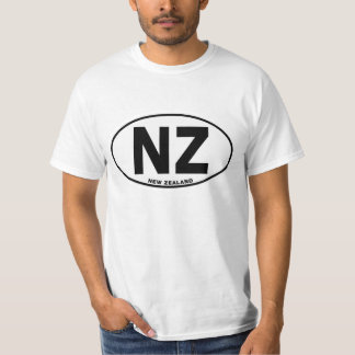 New Zealand NZ Oval ID Identification Code Initial T-shirt