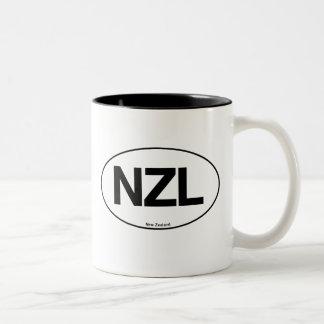 New Zealand Oval Two-Tone Coffee Mug