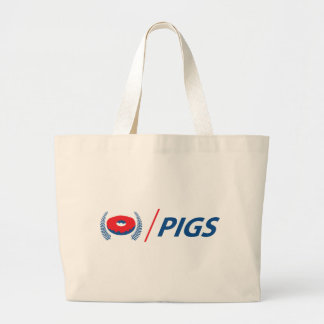 New Zealand Pigs with Donut Large Tote Bag
