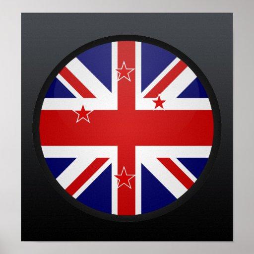 New Zealand quality Flag Circle Print