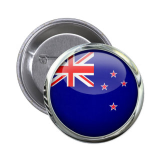 New Zealand Round Flag Glass Ball 6 Cm Round Badge