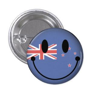 New Zealand Smiley 3 Cm Round Badge