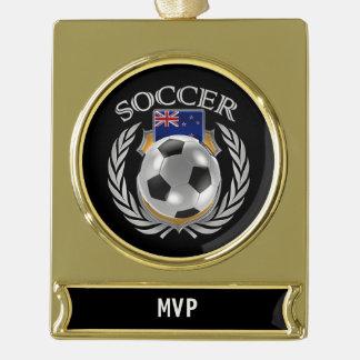 New Zealand Soccer 2016 Fan Gear Gold Plated Banner Ornament