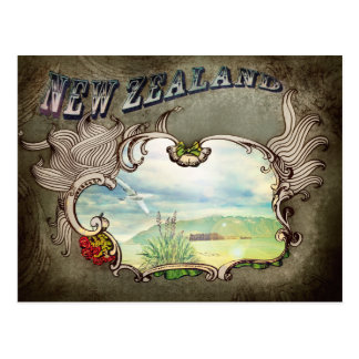 New Zealand vintage card Postcard