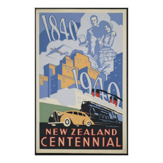 New Zealand Vintage Travel Poster Ad Retro Prints