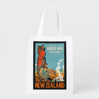 New Zealand vintage travel reusable bag