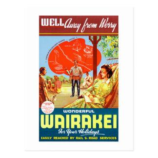 New Zealand Wairakei Vintage Travel Poster Postcard