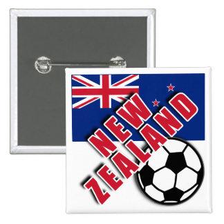 NEW ZEALAND World Soccer Fan Tshirts Buttons