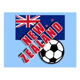 NEW ZEALAND World Soccer Fan Tshirts Post Cards
