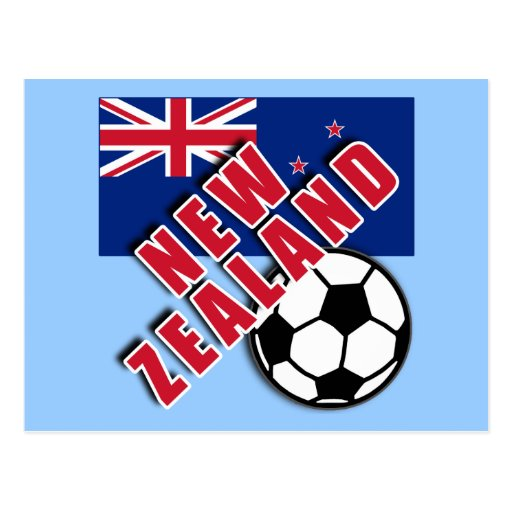 NEW ZEALAND World Soccer Fan Tshirts Post Cards