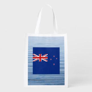 New Zealander Flag Floating on water