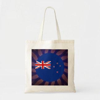 New+Zealander Flag Souvenir Budget Tote Bag