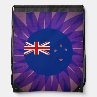 New+Zealander Flag Souvenir Drawstring Backpacks