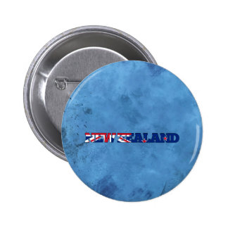 New Zealander name and flag on cool wall 6 Cm Round Badge
