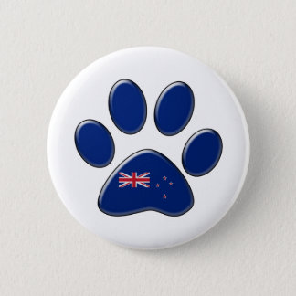 New Zealander patriotic cat 6 Cm Round Badge