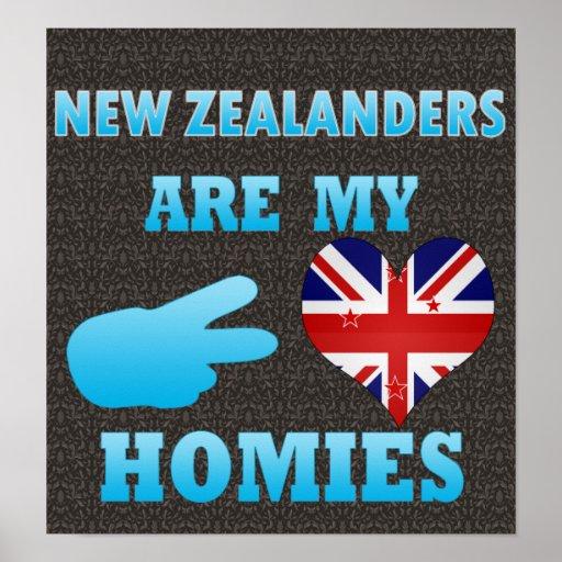 New Zealanders are my Homies Print