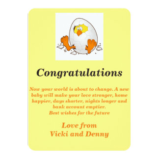 Newborn card. card