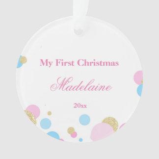Newborn First Christmas Ornament Confetti