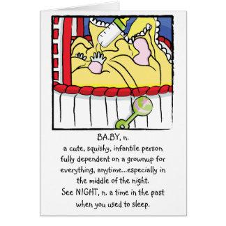 Newborn Girl Baby Greeting Card