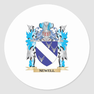 Newell Coat of Arms - Family Crest Round Sticker