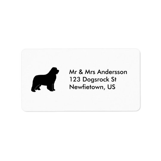 Newfoundland dog address label