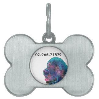 Newfoundland Dog Pet ID Tag