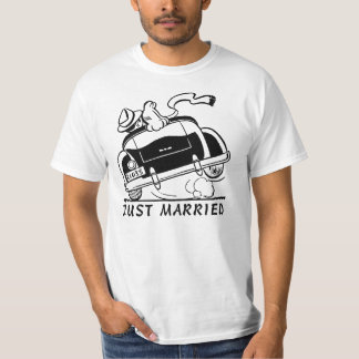 NEWLY MARRIED T SHIRT.JUST MARRIED T SHIRT