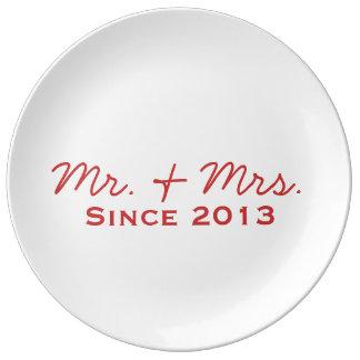 Newlywed 2013 Decorative Plate