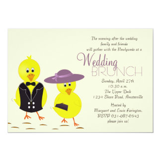 Newlywed Chicks Post Wedding Brunch Invitation
