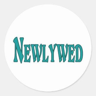 Newlywed Classic Round Sticker