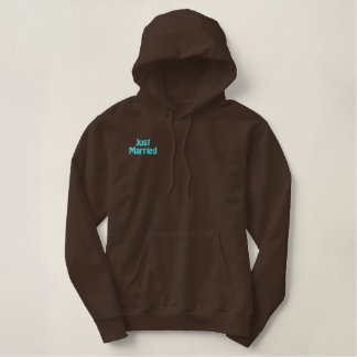 Newlywed Just Married Embroidered Hoodie